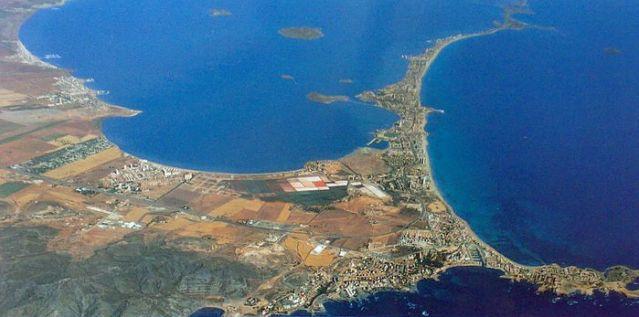 Pohled na oblast La Mange del Mar Menor